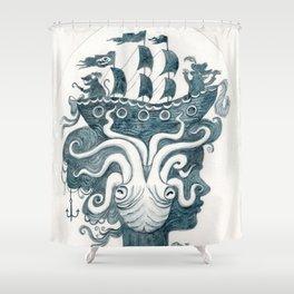 blue empress Shower Curtain