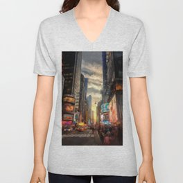 New York City Lights Unisex V-Neck