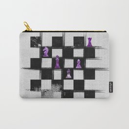Chessboard and Amethyst  Chess Pieces composition Carry-All Pouch
