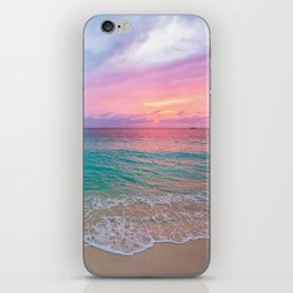 Aerial Photography Beautiful: Turquoise Sunset Relaxing, Peaceful, Coastal Seashore iPhone Skin