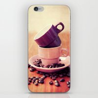 cafe iPhone & iPod Skins featuring LE CAFE by Claudia Drossert