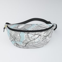 New York City Map of the United States - Circle Fanny Pack