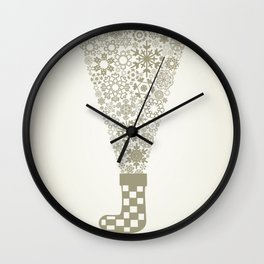 Sock Christmas Wall Clock