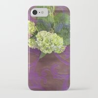 hydrangea iPhone & iPod Cases featuring hydrangea by Federico Faggion