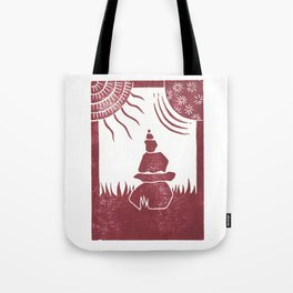 Relaxation (White) Tote Bag