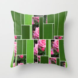 Pink Roses in Anzures 1 Art Rectangles 12 Throw Pillow