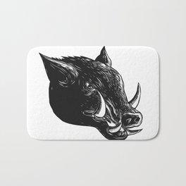 Razorback Wild Boar Scratchboard Bath Mat
