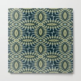 Vividly Mainly Tricolor Pattern 9 Metal Print