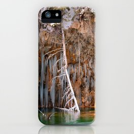 A spring that knows no summer  - Hanging Lake print  by Lena Owens iPhone Case