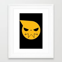 soul eater Framed Art Prints featuring SOUL EATER 3 by Prince Of Darkness