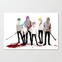 kuroko Canvas Prints featuring Teikou Murder Club by Vicky Newberry