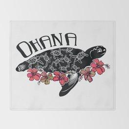 Hawaiian Ohana Turtle Throw Blanket