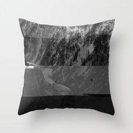 HW M GLTCH B&W Throw Pillow