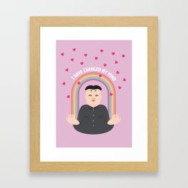 Kim Jong-un: Nobel Peace Prize 2015 Framed Art Print