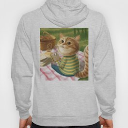 A cat is having a picnic Hoody