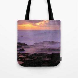 Seascape at sunset Tote Bag