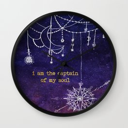 I Am the Captain of My Soul Wall Clock