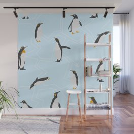 Penguins on Ice Floes Wall Mural