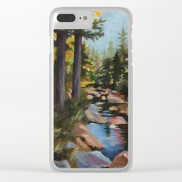 Hike to the Sugarloaves of New Hampshire - Acrylic Clear iPhone Case