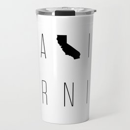 California Minimalist Typograpy Travel Mug