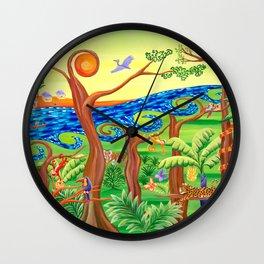 The Joyful Jungle Wall Clock