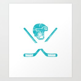 62c428e1b Eat Sleep Hockey Repeat Goalie Net Field Game Stick Shinny Gift Art Print