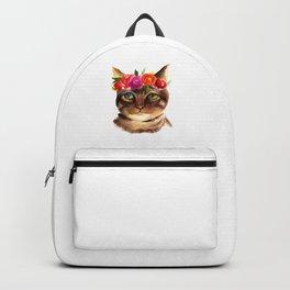 FLORAL KITTEN Backpack