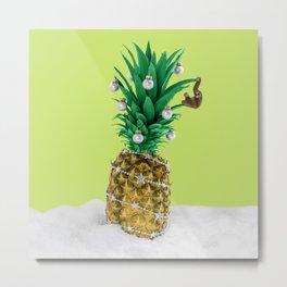 Christmas pineapple Metal Print