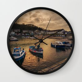 Porthleven Dusk Wall Clock