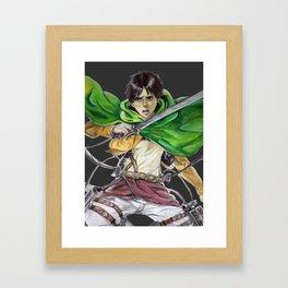 Eren Jaeger (dark gray background) Framed Art Print