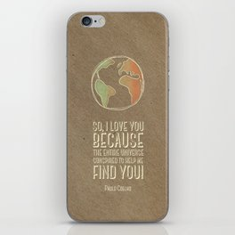 world quote iPhone Skin