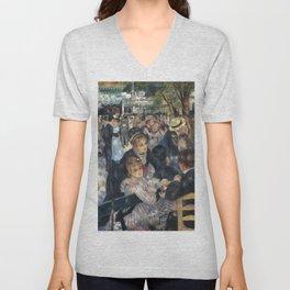 """Pierre Auguste Renoir """"Dance at Moulin de la Galette"""" Unisex V-Neck"""