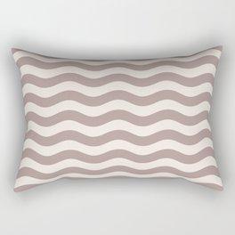 Wavy Stripes Patten Beige Rectangular Pillow