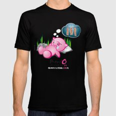 Berto: The Mental-issue pig taking a nap MEDIUM Black Mens Fitted Tee