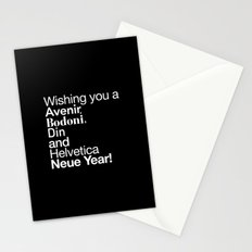 Happy Helvetica Neue Year 2014 Stationery Cards