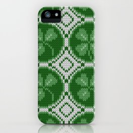 Four leaf clover St Patrick's Day iPhone Case