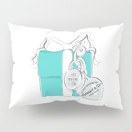 Blue Gift Box Pillow Sham