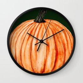 Pumpkin in the Grass Wall Clock