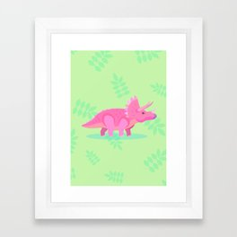 Triceratops, She Always Had an Attitude Framed Art Print