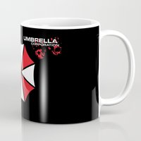 resident evil Mugs featuring Most evil corporation ever! by aceofspades81