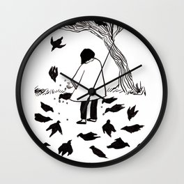 Mocking Birds at Bois de Boulogne Wall Clock