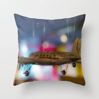 plane Throw Pillows featuring Plane by Sébastien BOUVIER