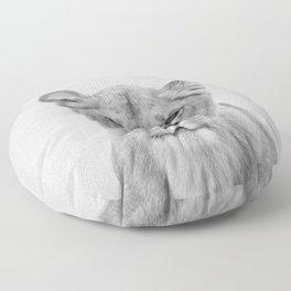 Lioness - Black & White Floor Pillow