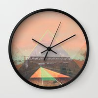 tesla Wall Clocks featuring tesla by michelle borjon