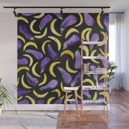 Eggplant & Bananas Wall Mural