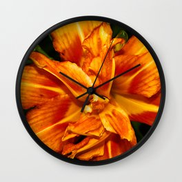 Lily Photographic Print Wall Clock