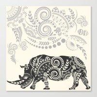 rhino Canvas Prints featuring Rhino by famenxt