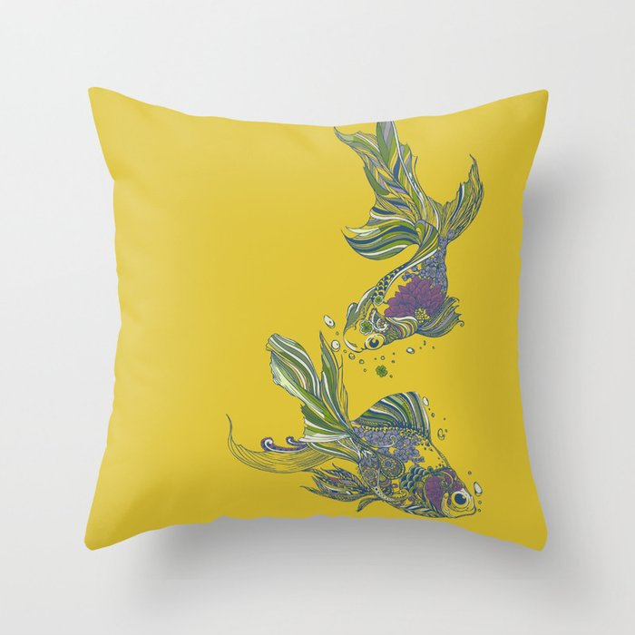 Blooming in Deep Throw Pillow