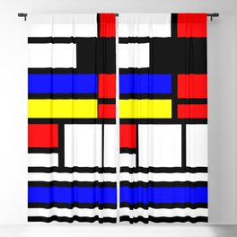 Cubism Painting Art Retro Pattern Blackout Curtain