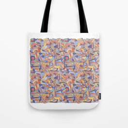 Party in Orange and Blue Tote Bag